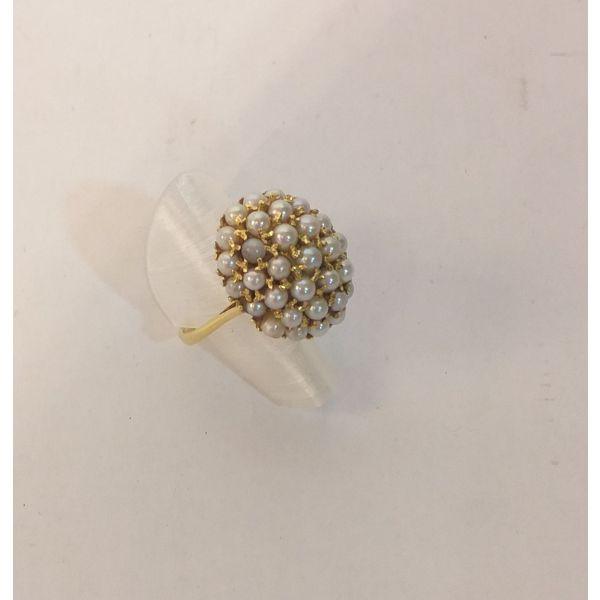 Anillo de oro con perlitas