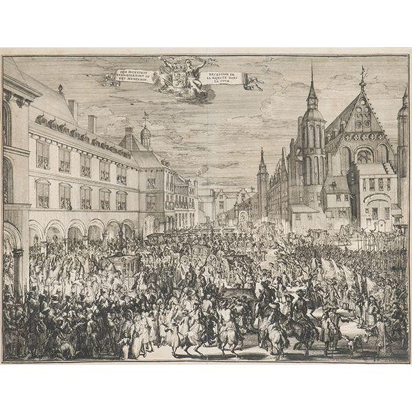 ROMEYN HOOGHE - Entrada de Guillermo III en Binnenhof