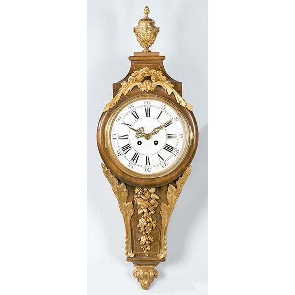 Reloj de cartel de palor francés, siglo XIX