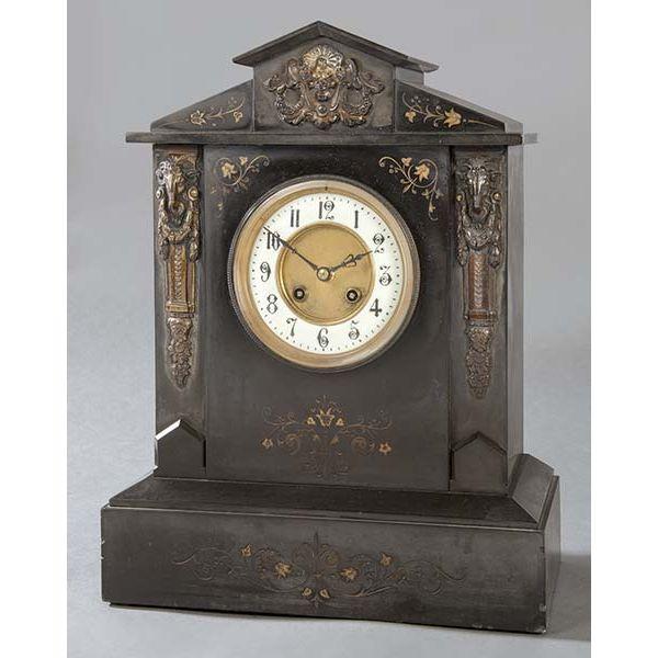 Reloj francés de marmol siglo XIX
