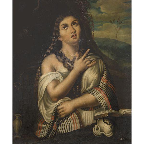 DESPUÉS DE TIZIANO S. XIX - Magdalena penitente