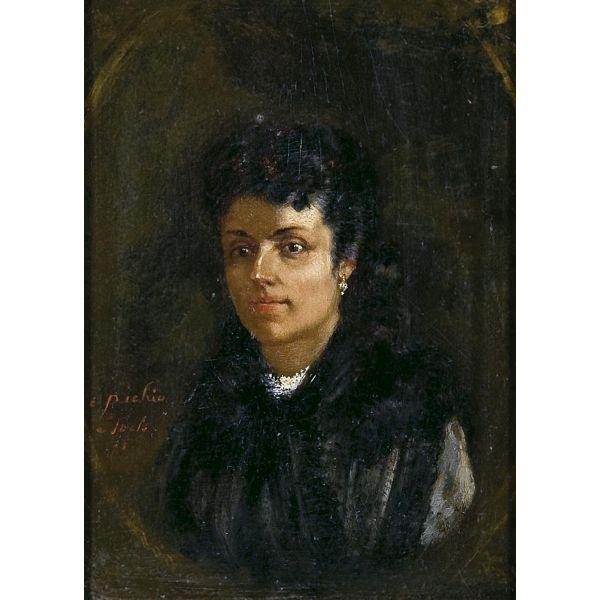 ERNEST LOUIS PICHIO - Retrato de dama