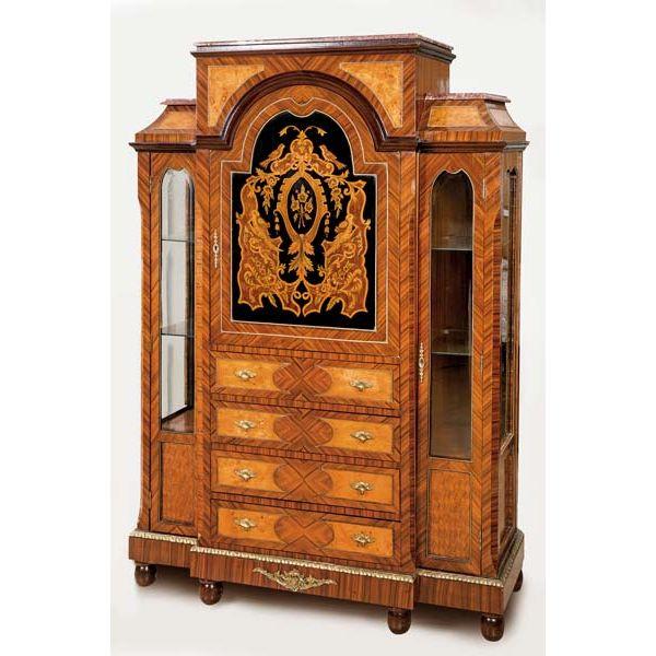 Mueble de caoba montado en bronce estilo Luis XVI, ppios siglo XX