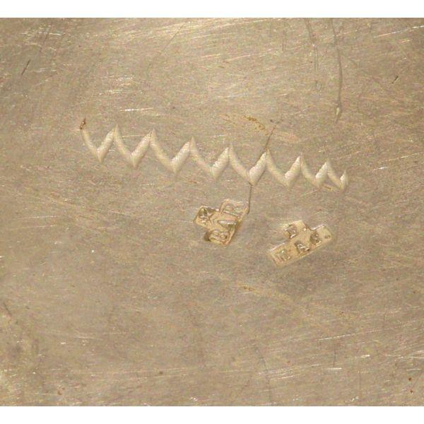 Escribanía en plata con marcas de Barcelona siglo XIX