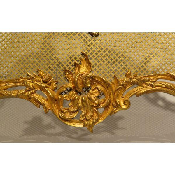 Paraban de chimenea en bronce dorado Francia siglo XIX