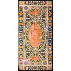 Mesa de comedor de diez asientos en un mosaico de incrustaciones de Pietre Dure italiano.