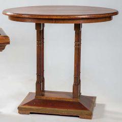 Mesa de centro de nogal alemana, h. 1880