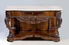 Consola de madera de caoba española, segunda mitad del siglo XIX