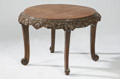 Mesa circular de caoba estilo Jorge II