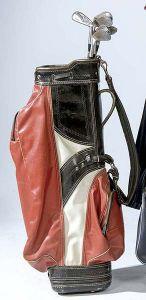 Bolsa de golf roja