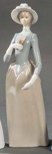 Figura de porcelana esmaltada española, siglo XX