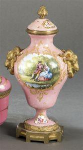 Pequeño jarron en cobre esmaltado francés S. XIX.