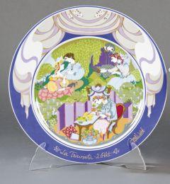 """Plato de presentación de porcelana """"La Traviata"""" Rosenthal."""