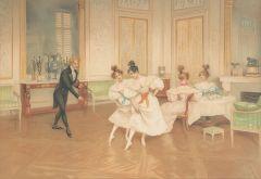 ESCUELA FRANCESA S. XIX - Lecciones de ballet