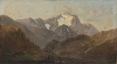ESCUELA CENTROEUROPEA S. XIX - Paisaje con montañas