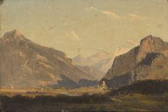 ESCUELA CENTROEUROPEA S. XIX - Paisaje montañoso
