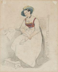 ESCUELA INGLESA S. XIX-XX - Dama con libro